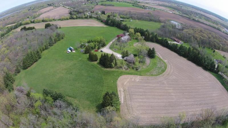 Aerial view with house (photo 2)