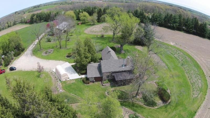Aerial view with house (photo 3)