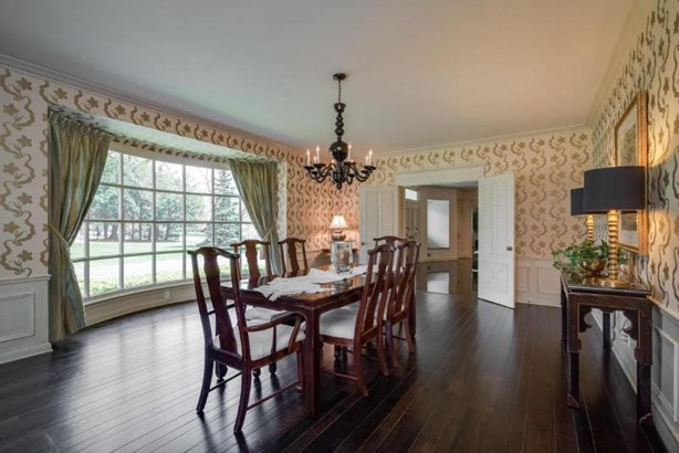Formal Dining Room with Bowed Window (photo 4)