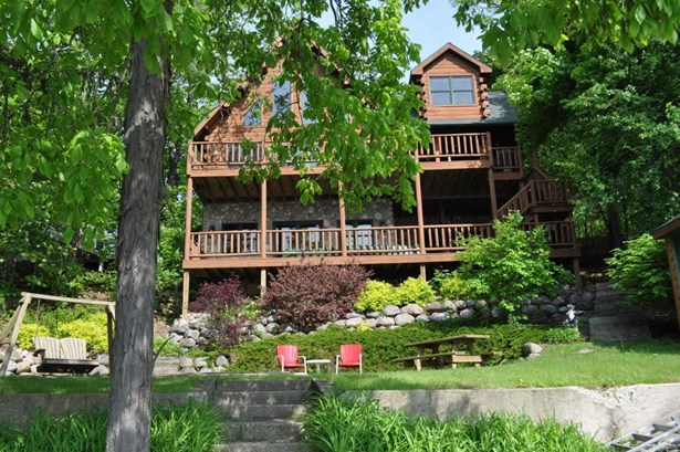 2 Story,Exposed Basement, Log Home - Elkhorn, WI (photo 1)