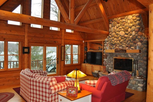 2 Story,Exposed Basement, Log Home - Elkhorn, WI (photo 2)