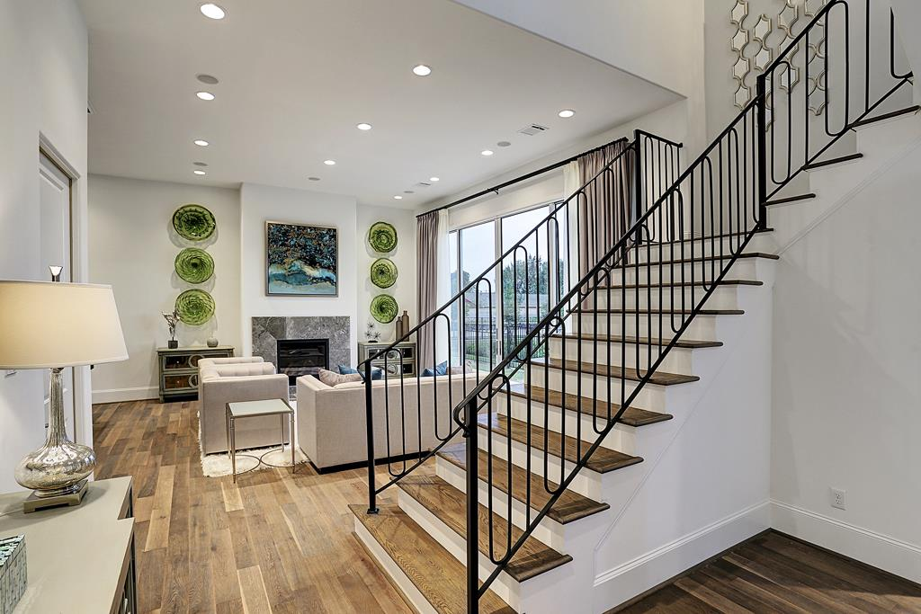 The interior photos found here are of our model home. Many of the finishes resemble what is found in all three floor plans, but the layout is different. (photo 4)