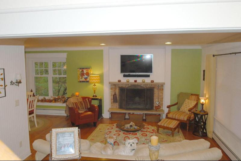 Natural Fireplace living room (photo 2)