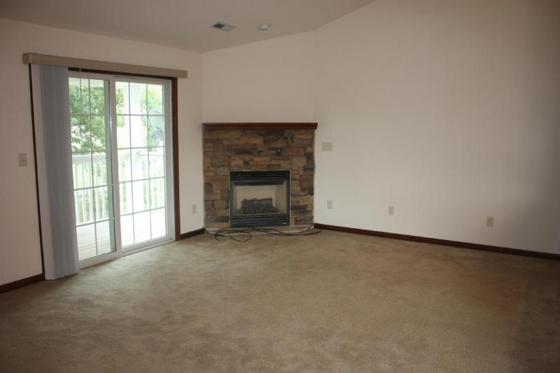 Gas fireplace in living room (photo 4)