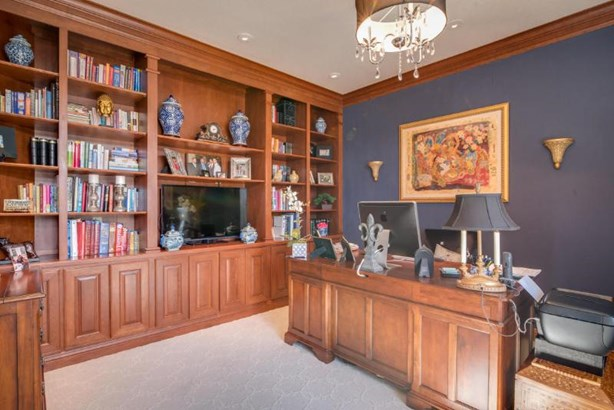 Office with Built-Ins & French Doors (photo 4)