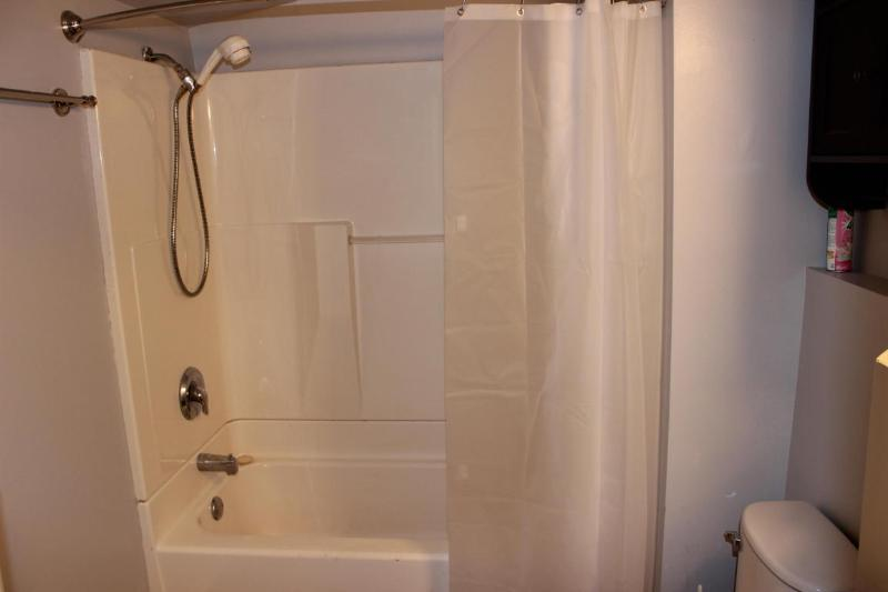 Shower over tub (photo 5)