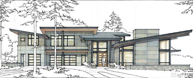 Striking Custom NW Contemporary design by renowned architect Greg Hackworth. This 5,806 SF work of art sits prominently on our most private lot and is the final offering in this unparalleled community of gated Estate residences.