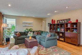 One view of the lovely living room, the doorway at back is to the 4 season sun room. (photo 4)