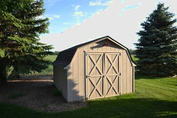 Nice sized shed the backyard is perfect for lawn equipment and seasonal furniture. (photo 5)