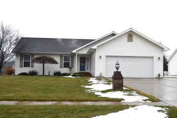 Desirable 4 bedroom Williams township ranch. Spacious open floor plan includes a great room with a full wall of windows & skylights. The kitchen is a good size with plenty of work space and storage.  There is a main floor laundry and a large walk in closet just off of the finished garage.  Recently finished is the basement w/a family room, bedroom , bath and storage area.  The landscaping is completed for a enjoyable curb appeal.  Many other special features are waiting for you to discover. Call today for your showing.
