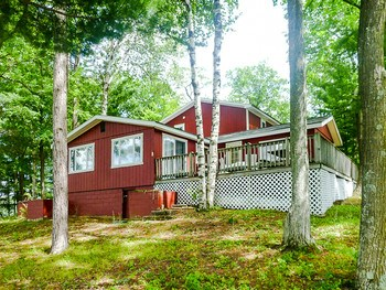 Get away from it all in this completely renovated home with 454 feet of Lake Frontage on a prime peninsula lot on 52 acre Island Lake, just east of Meredith in Gladwin County.  With 4 bedrooms and 3 full baths there is plenty of room for family and guests. The original cottage was remodeled in 1999-2000 with new windows, copper plumbing, insulation and a new roof. The addition was built in 2002 with a new furnace to cover the entire structure, a new 5