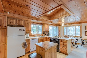 Kitchen Dining Area with fabulous view of the Lake (photo 4)