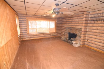 Large living room with tons of natural light and a fireplace (photo 3)