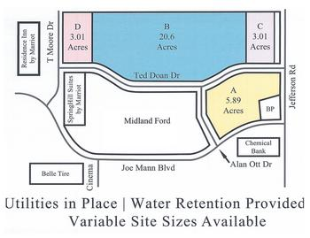 Developed land with close proximity to the new McLaren Hospital, WalMart, Meijer, Midland Mall, Holiday Inn, Spring Hill Suites, Midland Ford, Lucky's Steakhouse & Residence Inn. Variable site sizes available with all utilities. Water retention provided. Contact listing office for details. (photo 1)
