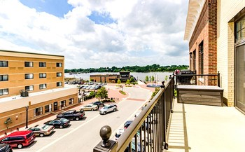A quick step outside and you will see this condo is a rare find with one of the larger balconies for a one bedroom condo in the development. A perfect place to relax and watch ships going down the river. (photo 3)