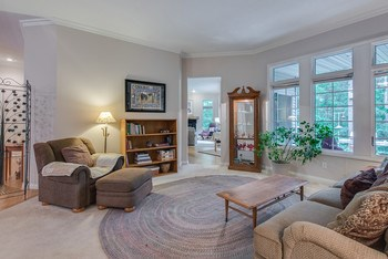 The  view from windows at this end of the living room draw you into this home. (photo 4)