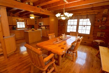 Large kitchen and dining area that is connected to the great room.  This space is perfect for entertaining. (photo 5)