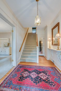 Great beginnings and first impressions are important!   This gracious front foyer greets your guests in style.  Be greeted by beautiful gleaming hardwood floors, and the 50
