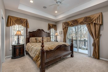 The main floor master is large enough for any sized bedroom suite and contains all the sweet little touches one hopes to find including a walk out balcony! (photo 3)