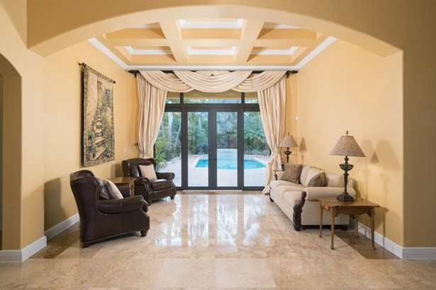 Living room with French Doors to Pool Patio (photo 3)