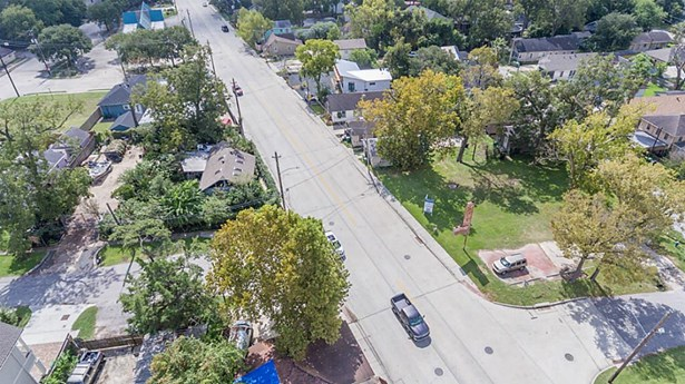 Aerial view of N Main St looking South from the property. (photo 5)