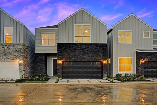 Welcome to Hollister Park - pictured here is TheBlalock plan which consists of 3 bedrooms and 2.5 bath on 2 levels. Main level features the public rooms consisting of living area with access to private yard with covered porch, kitchen and dining room.