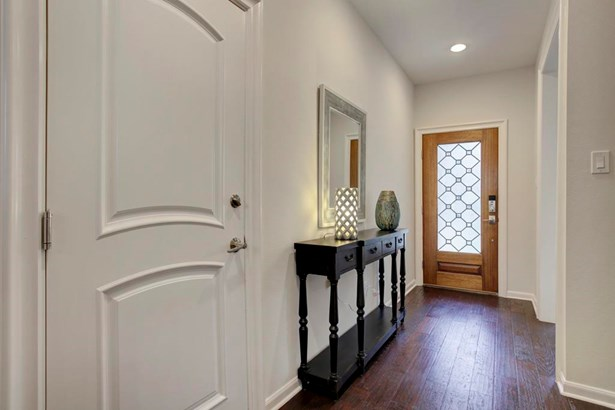 Entry/Foyer. Elegant wood/glass front door and beautiful wood floors (photo 2)