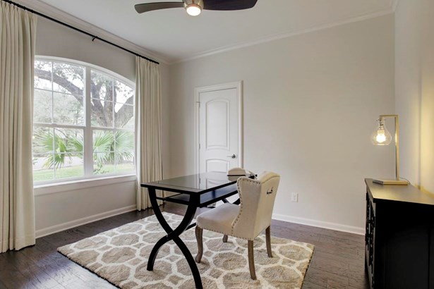 First floor study with large window overlooking the front yard. Can also be used as 5th bedroom (photo 3)