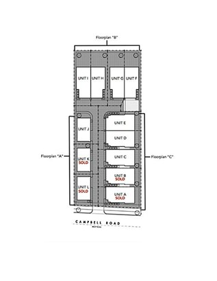 Unit C sits at the left side of the community which will have quaint backyard spaces. (photo 3)