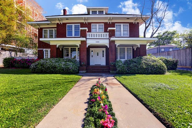 landmark mansion, close to the Med Center, Rice, downtown.. with four custom built townhomes.. rental units in rear.ideal for investor/owner occupant (photo 1)