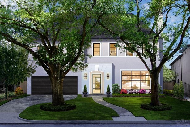 (Rendering with existing trees) On a premier lot with mature oak tree in Afton Oaks, you find this home under construction by Ashton Gray Development. Flawless in its design, classic European architecture with stylish contemporary designs. Exterior constr (photo 1)