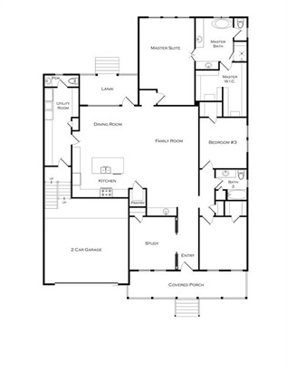 This great floorplan features 3 bedrooms plus a study with a spacious game room on the second floor. (photo 2)