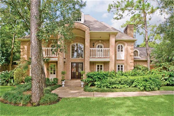 Front Exterior - Gorgeous red brick traditional home in the heart of Bunker Hill on a 30,548 sf lot with mature trees, excellent curb appeal and a backyard oasis. (photo 1)