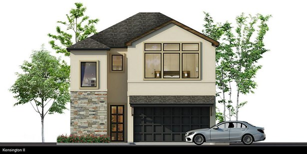 Rendering of exceptionally designed 3 bedroom, 3.5 bath two-story residence in gated community of Kensington Green by City Choice Homes. Features include over-sized backyard and first floor living. (photo 1)