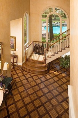 Additional view of entry with beautiful view or rear grounds and swimming pool. (photo 3)