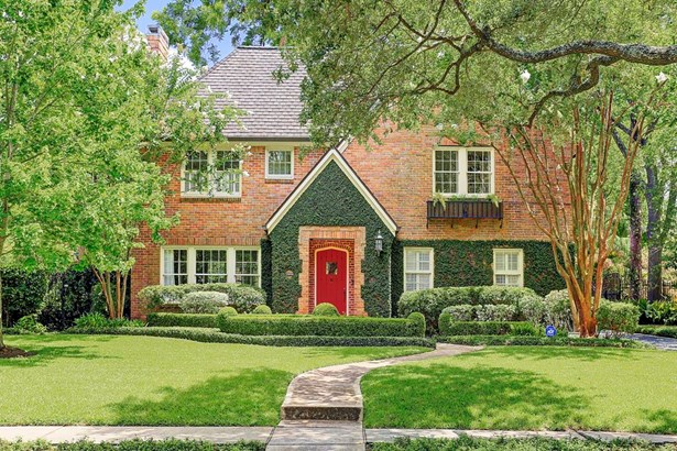 Welcome home to 1741 South Blvd., near Rice University, museums and the medical center...tree lined blvd., and esplanade, beautifully updated with 4-5 bedrooms, formals, family room off of kitchen...5th bdrm is the carriage house....gorgeous gardens! (photo 1)