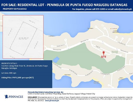 Lot 28 Blk 24 Peak Drive St., ,, Nasugbu - PHL (photo 1)