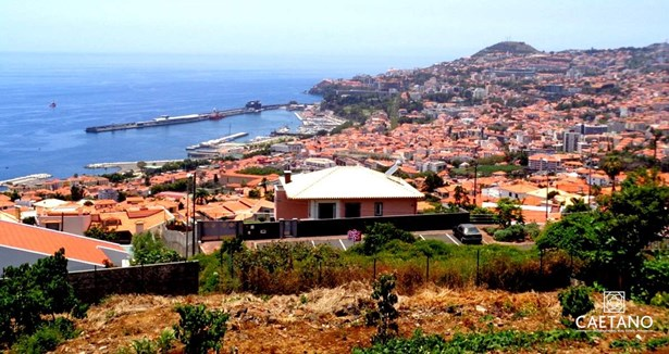 Plot of land with 505 m2 panoramic views bay of Funchal Foto #1