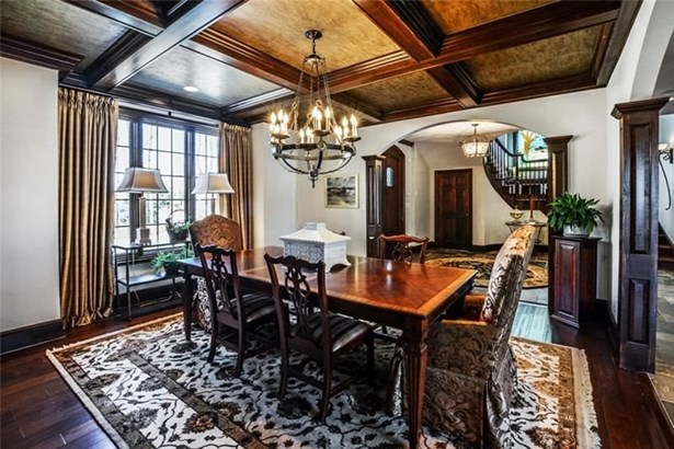 Rich Hardwood Floors, Coffered Ceiling (photo 5)