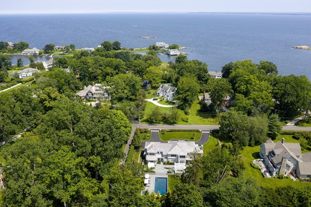 Aerial View of 920 Forest Avenue and Long Island Sound