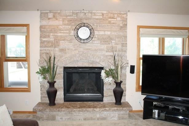 Beautiful Stone Gas Fireplace (photo 5)