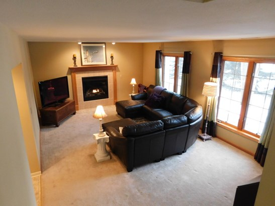 Family room gas fireplace (photo 5)