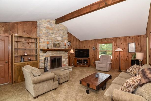 Family Room w/ Stone Fireplace (photo 3)