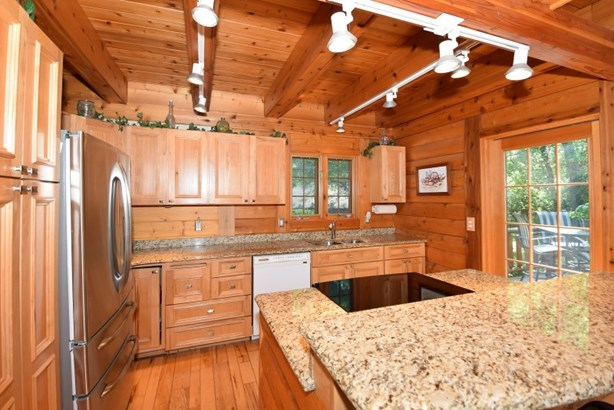 Kitchen with Hickory Cabinets (photo 3)