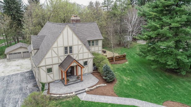 Aerial view of home and garage (photo 3)