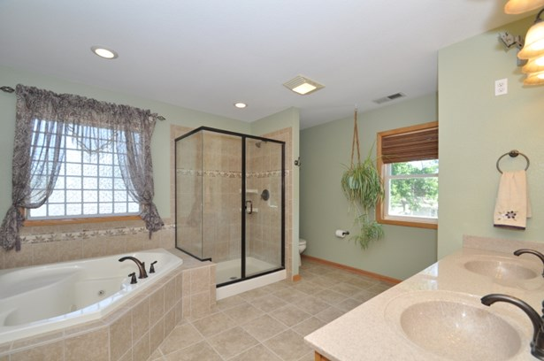 Master Bath with jetted tub (photo 4)