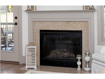Gas fireplace in living room (photo 5)