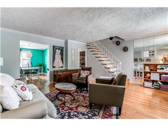 Spacious LR w/ hrdwd floors, opens to dining area (photo 3)