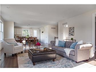 Comfortably elegant great room w/ one story living