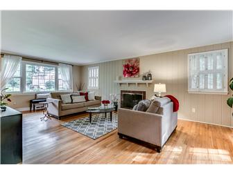 Spacious casual living rm with fireplace (photo 3)